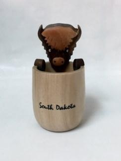 SD Wood SG w buffalo on rim