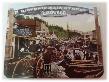 Deadwood Old Time Street Scene Magnet