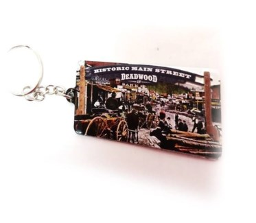 Deadwood Old Time Street Scene Keychain