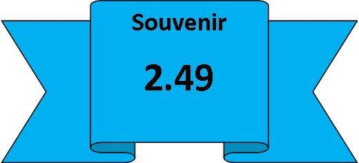Souvenir 2.49