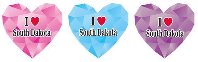 SD Diamond Heart Magnet Asst. colors
