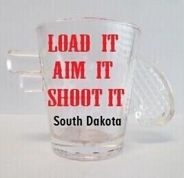SD Gun Shot Glass