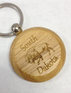 SD Laser Engraved Wood Keychain **Discontinued**