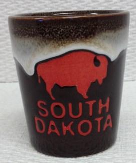SD Stoneware Brown Buffalo Shot Glass