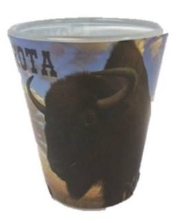 ND Buffalo Shot Glass
