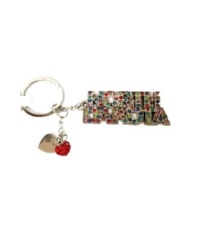 035-062. ND 2 Hearts Word Bling Keychain 82f74d205