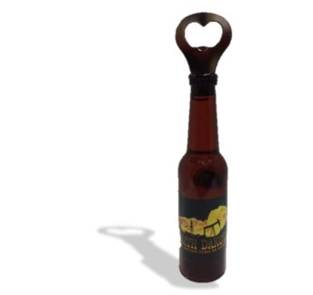 ND Oil Field Lg. Beer bottle Shape-Bottle opener Magnet