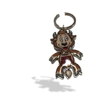 ND Wiggle Head Buffalo Key Chain
