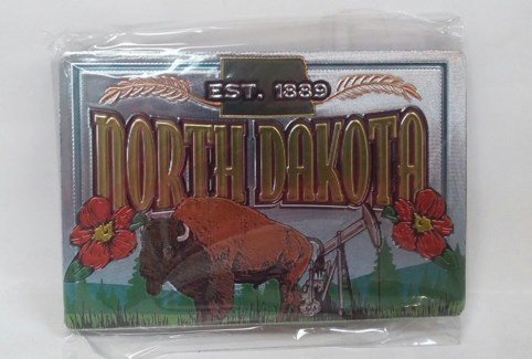 North Dakota Foil Magnet