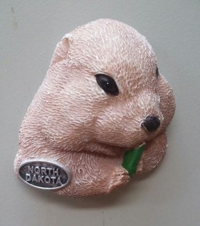 North Dakota Prairie Dog Magnet