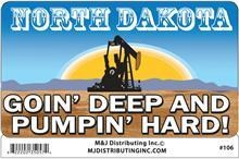 ND Goin Deep Sticker