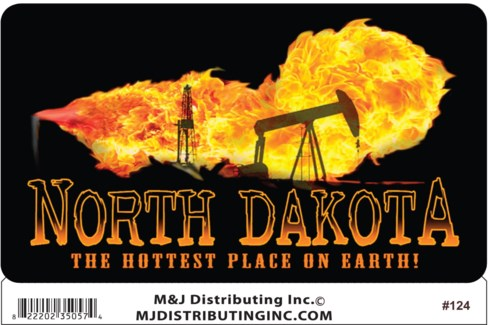 North Dakota Flame oil Sticker