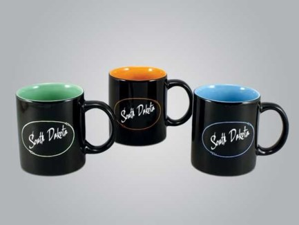 ND Mug Black w/color inside**Discontinued**