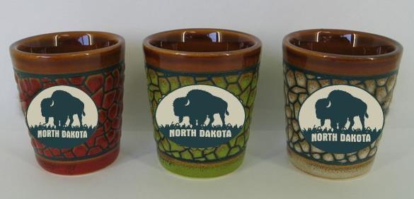 ND Stoneware pebble pattern shot glass
