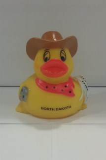 AD 1001 North Dakota Rubber Duck Cowboy