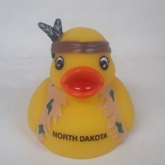 AD0008 North Dakota Indian Rubber Duck
