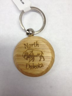 ND Laser Engraved Wood Keychain  **Discontinued**