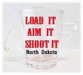 ND Gun Shot glass