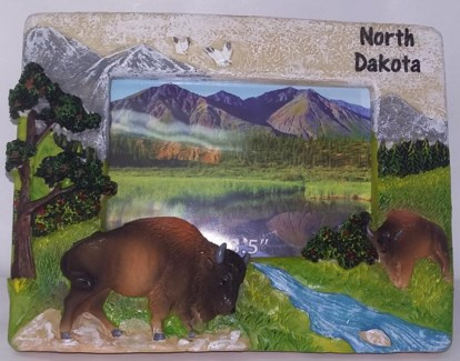 "ND Stone Buffalo Picture Frame 5""X3.5"""