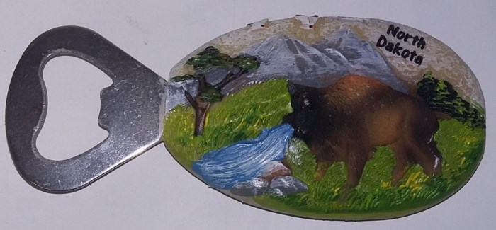 ND Buffalo Stone Magnet Bottle Opener**Discontinued**