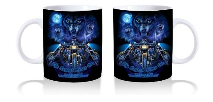Blue Wolf Ceramic mug