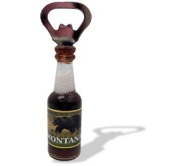 Small Custom Label Beer Shape Bottle Opener Magnet