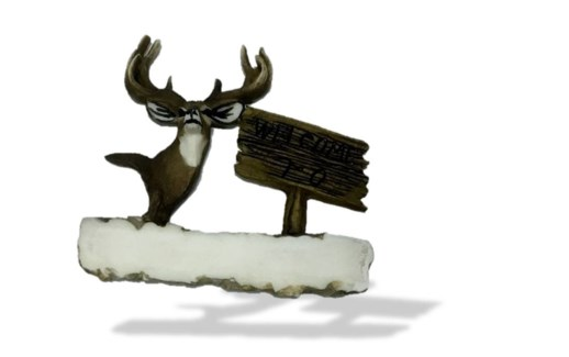 Mule Deer Welcome To...Magnet