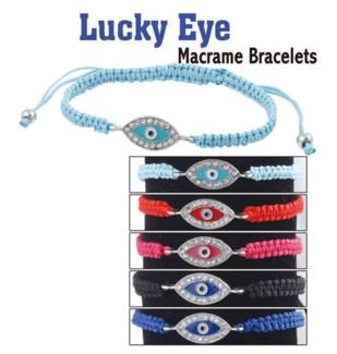 Lucky Eye Macrame Bracelet 24/Dsp