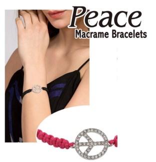 Peace Macrame Bracelet 24/Dsp