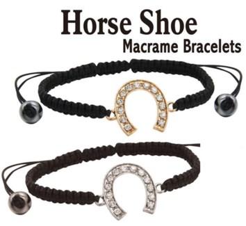 Horseshoe Macrame Bracelet 24/Dsp