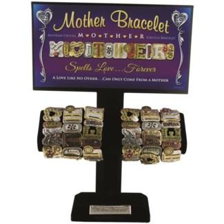 Mother Tri Stone Tile Bracelet 6/Dsp