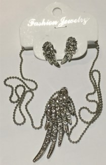 Single Wing Necklace Earring Set  **Discontinued**