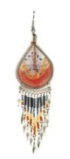 Woven Teardrop earrings asst large