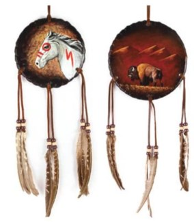 3in Navajo Handpainted Soft Leather Shield
