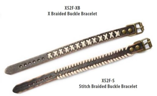 Stitched Braided Buckle Bracelets