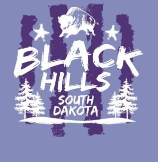 Black Hills Tee- Violet Trench - S