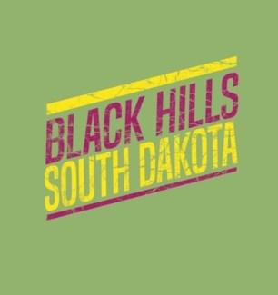 Black Hills Tee-Lime Green Slant - S