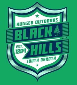 Black Hills Tee- Irish Green Super Shield- S