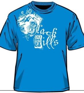 Black Hills Tee- Sapphire Scrap - S