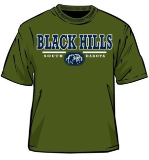 Black Hills Tee- Military Green Rockwell- S