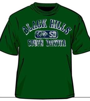 Black Hills Tee- Forest Green Acidwash- S