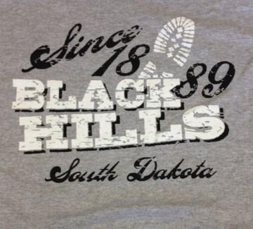 Black Hills Tee- SD Bakken Oil Field Pilsner Grey- S