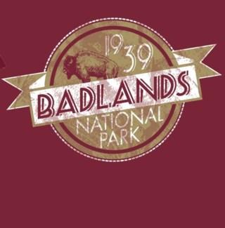 Badlands Tee- Award Garnet- S