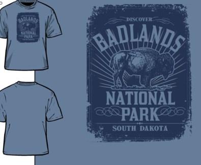 Badlands Tee- Distinct Navy- S
