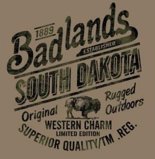 Badlands Tee- Bulletin Brown - S