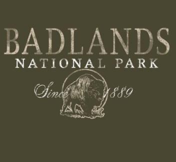Badlands Tee- Badlands National Park Green- S