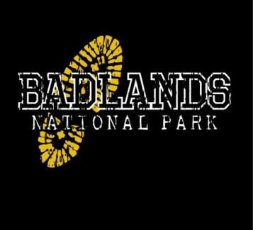 Badlands Tee- Black Terrain- S