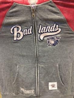 BL Grey/Red Zip Hoody M