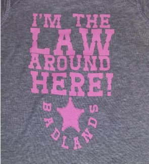 BL Onesies The Law- Pink 6mo