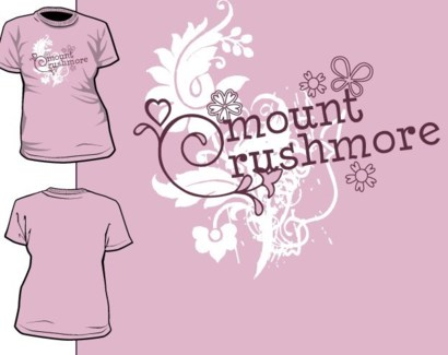 Mt. Rushmore Tee- Belle Pink- S